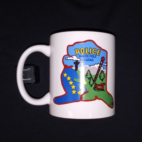 North Pole Police Coffee Cup