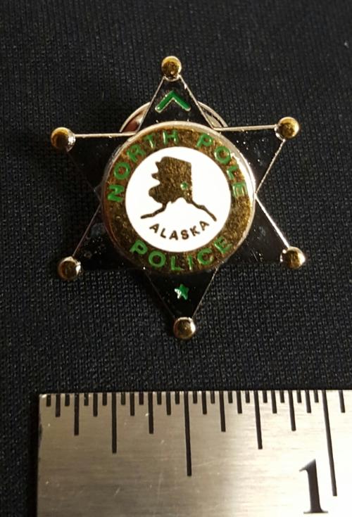North Pole Police Lapel Pin